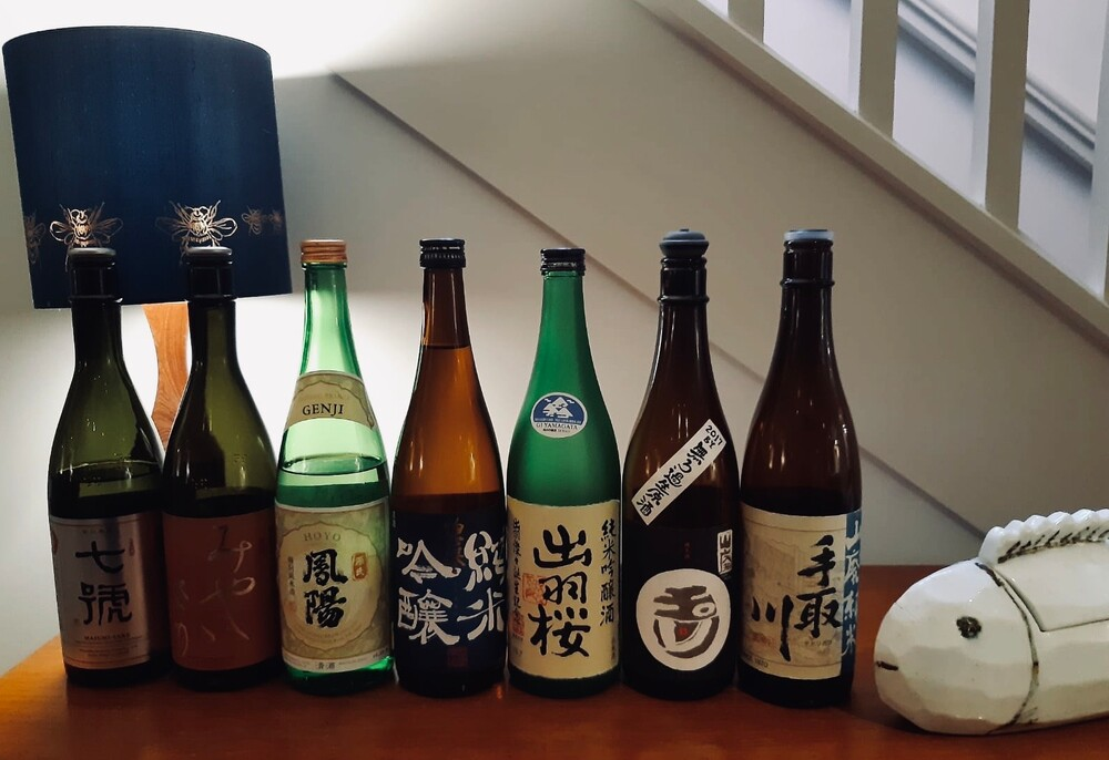 Holland Park's Flat Three restaurant's select Japanese sake offering